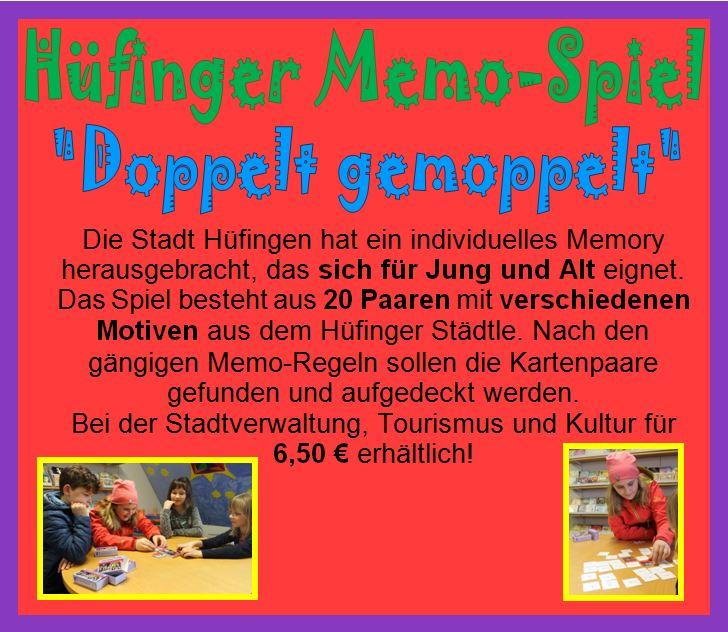 """Hüfinger Memo-Spiel """"Doppelt gemoppelt"""""""