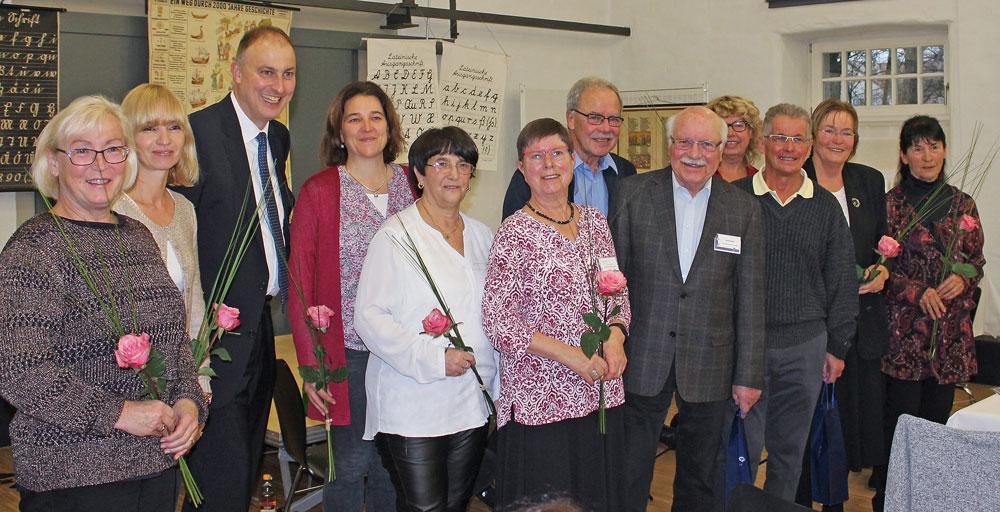 Bürgermeister Kollmeier bedankte sich bei den ehrenamtlichen Helfern
