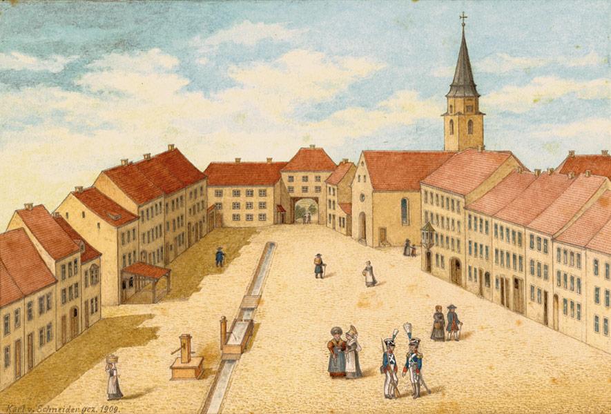 Historische Ansicht der Stadt Hüfingen