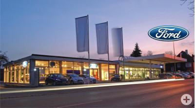 Gebäude mit Ford Logo