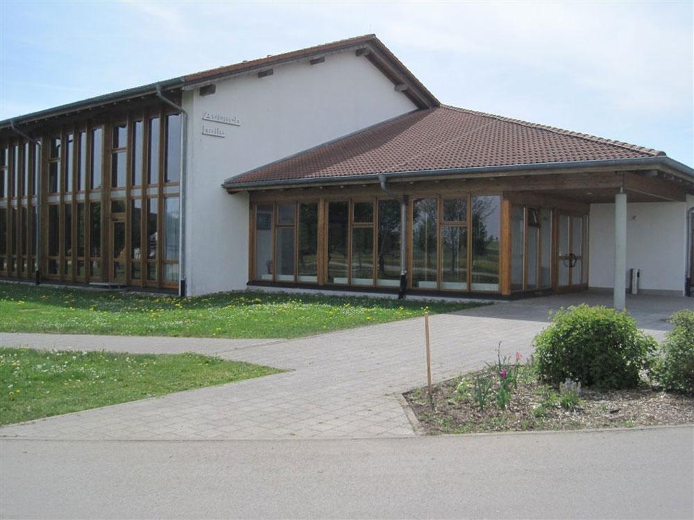 Aubachhalle von außen
