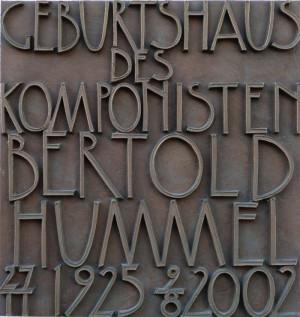 Gedenktafel von Hummel