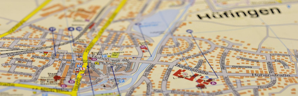 Teile des Stadtplans von Hüfingen