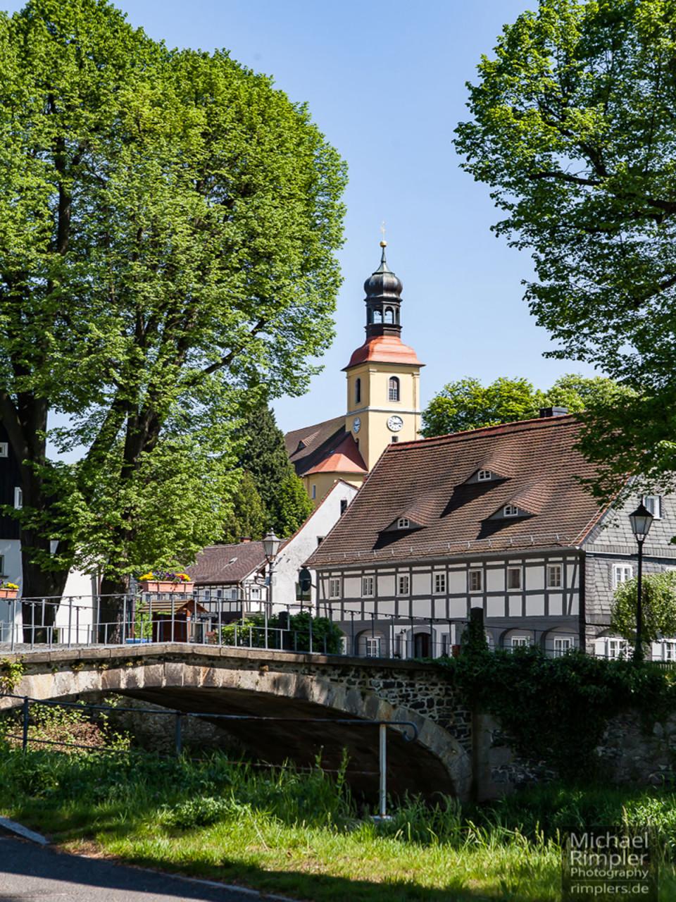 Stadtansicht der Partnerstadt Grossschönau
