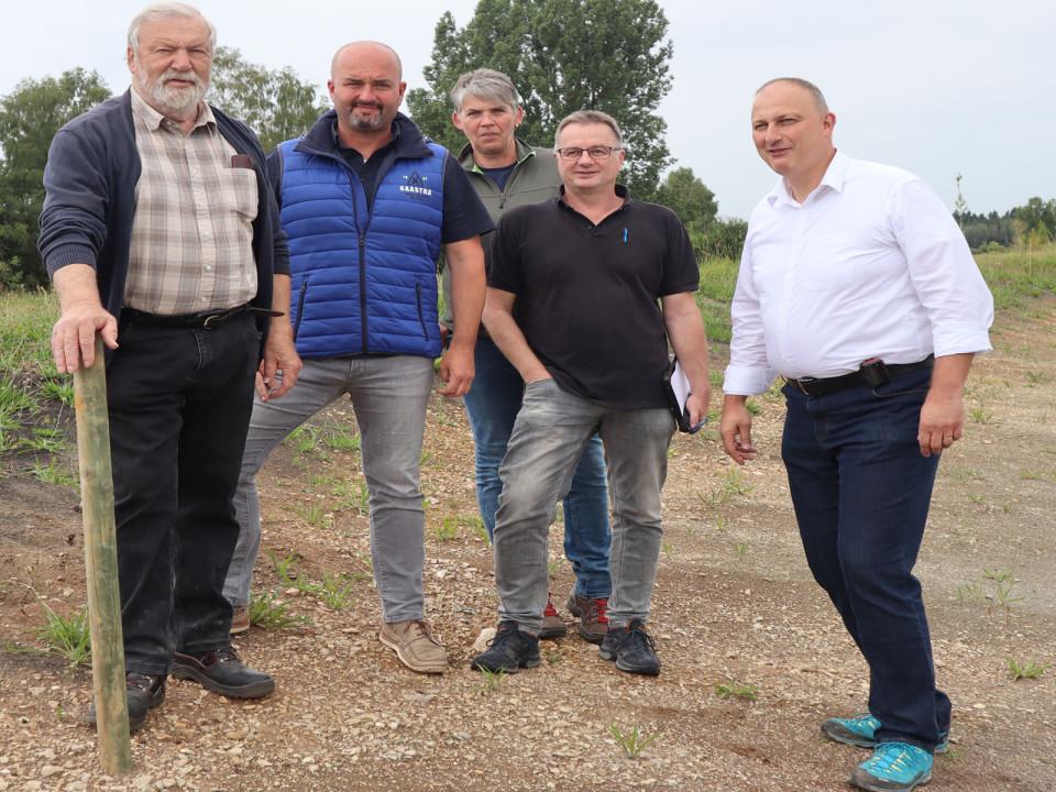 Die Verantwortlichen des Projektes Marbengraben