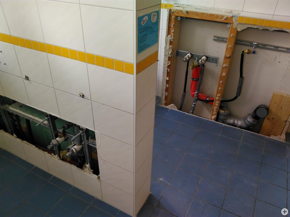 Die Umbauarbeiten des Kindergarten Sumpfohren für die Einrichtung einer U3 Krippe haben begonnen.
