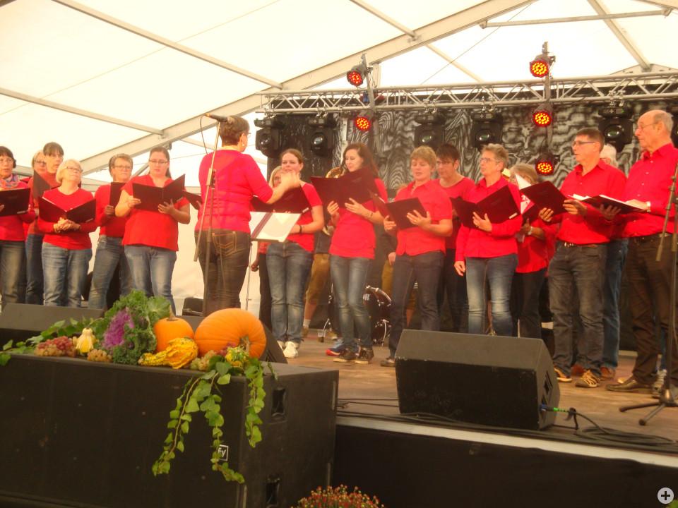 Die Singing Voices ernteten viel Beifall beim Auftritt im Festzelt Mende