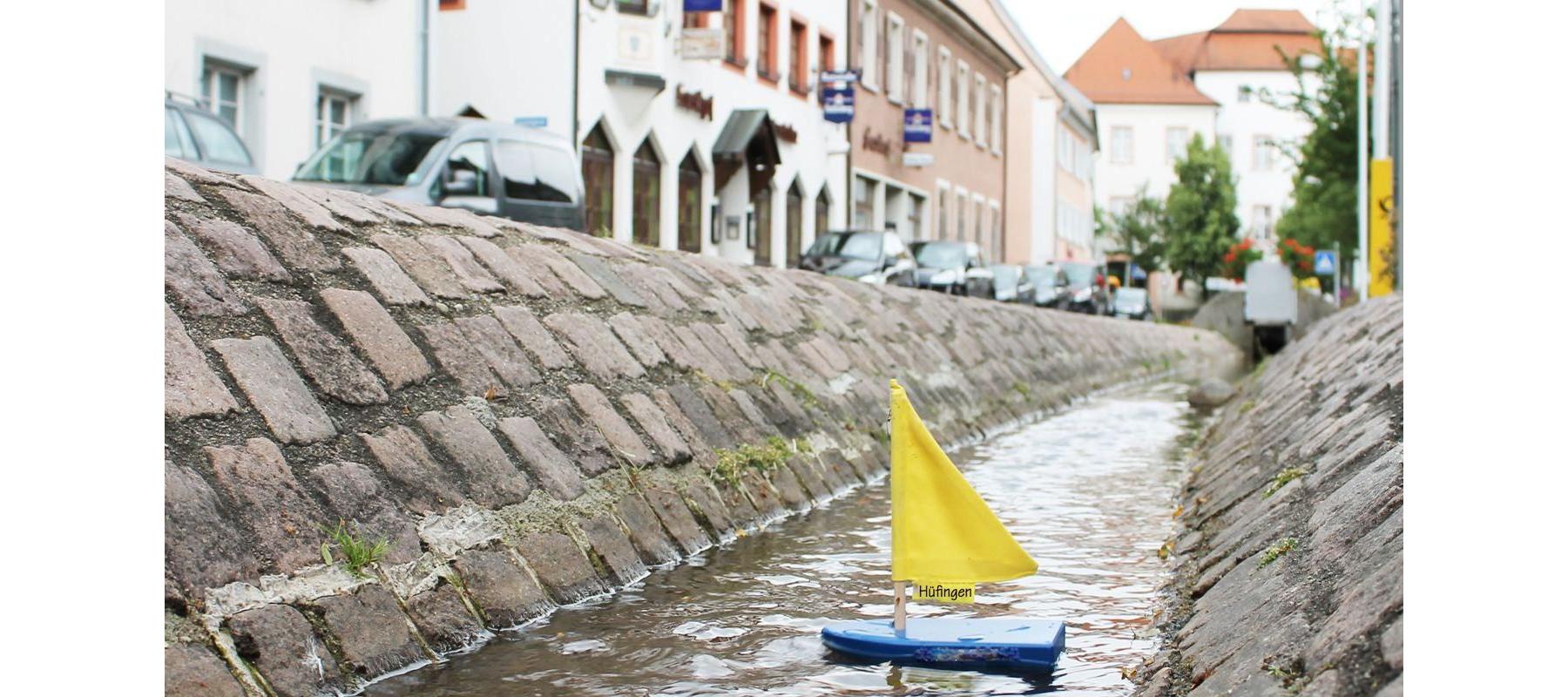 Bächle-Boot in Hüfingen
