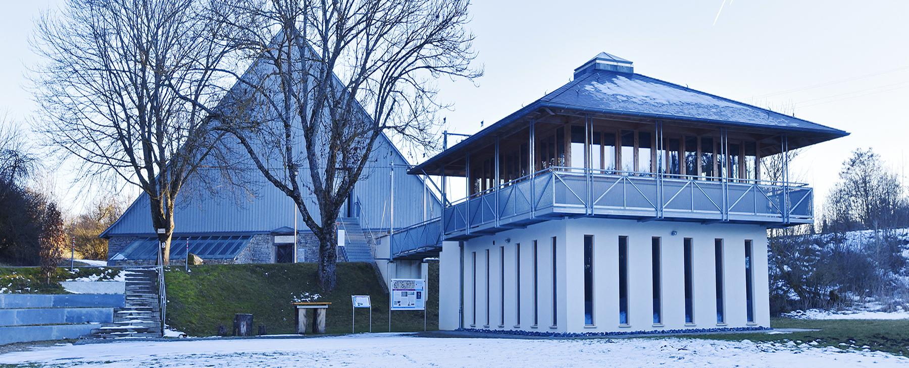 Römerbad+Pavillon im Winter