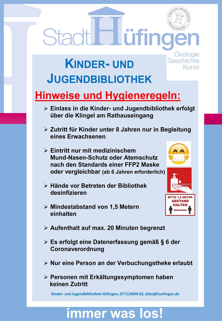 Plakat Hygieneregeln Bücherei