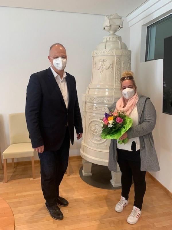 Susann Marder und Bürgermeister