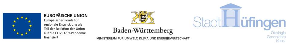 Die Logos der EU, der EFRE und von Baden-Württemberg
